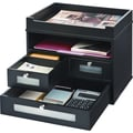 Victor® Wood Tidy Tower Organizer, Midnight Black