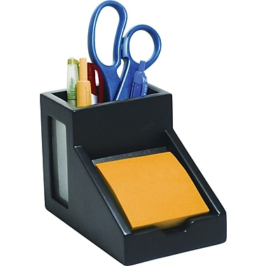 Victor® Wood Desk Accessories Pencil Cup/Note Holder, Midnight Black