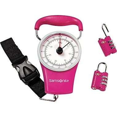 Samsonite Scale & Lock Kit, Pink