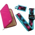 Samsonite Travel Wallet & ID Kit, Teal/Pink