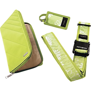 Samsonite Travel Wallet & ID Kit, Lime/White
