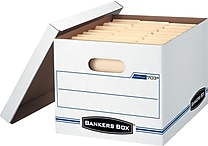 Bankers Box® Stor/File™ Basic-Duty Storage Boxes, Letter/Legal Size, 12 Pack (703™)