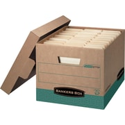 Bankers Box R-Kive Heavy-Duty 100% Recycled Storage Boxes, Letter/Legal Size, 12/PK (12775)