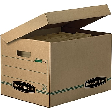 Bankers Box® SYSTEMATIC® Basic-Duty 100% Recycled Storage Boxes, Letter/Legal Size