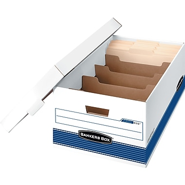Bankers Box® DividerBox™ Medium-Duty Storage Boxes, Legal Size
