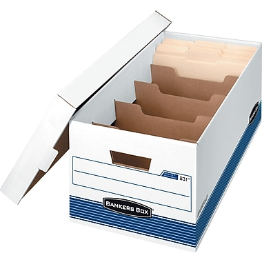 Bankers Box® DividerBox™ Medium-Duty Storage Boxes, Letter Size 10in.H x 12in.W x 24in.D