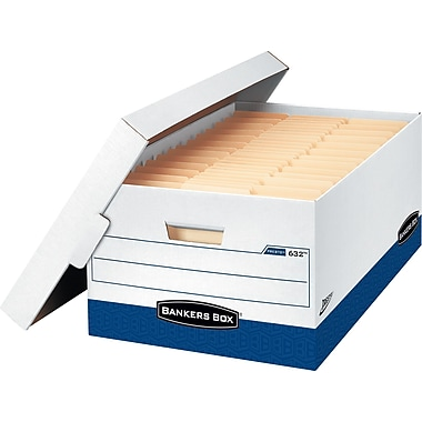 Bankers Box® Presto™ Fastest Assembly Storage Boxes, Legal Size