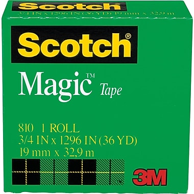 Scotch® Magic™ Tape 810, 3/4in. x 36 yds, 1in. Core