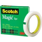 Scotch® Magic™ Tape 810, 3/4 x 72 yds, 3 Core