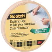 Scotch® Drafting Tape, 3/4 x 60 yds, 3 Core