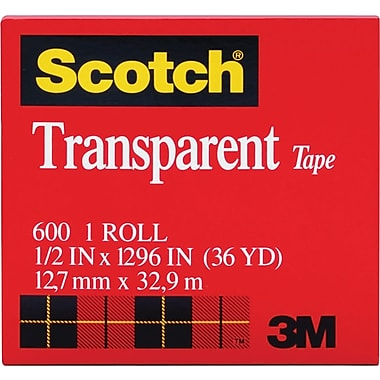 Scotch® Transparent Tape 600, 1/2