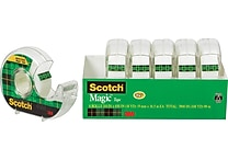 Scotch® Magic™ Tape, 3/4' x 650' Each w/Dispenser , 1' Core, 6/pack (6122)