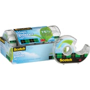 Scotch® Magic ™ Greener Tape, 3/4 x 16 3/4 yds, with Dispenser, 1 Core, 6/Pack