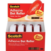 "Scotch® Adhesive Dot Roller Value Pack, .31"" x 49', 4/Pack"