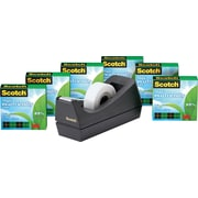 "Scotch® Magic™ Greener Tape 812 with C38 Dispenser, 3/4"" x 900"" Tape, 1"" Core, 6/Pack"