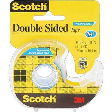 Scotch® Double Sided Removable Tape with Dispenser, 3/4