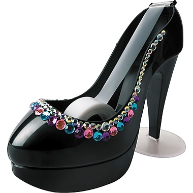 Scotch® Black High Heel Shoe Desktop Dispenser with Scotch® Magic& Tape, Includes Bling Kit