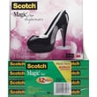 "Scotch® Magic™ Tape 810 with Black Shoe Dispenser, 3/4"" x 1000"", 12/Pack"