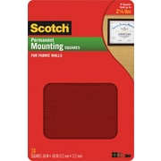 "Scotch® Permanent Mounting Squares for Fabric Walls, .68"" x .68"", 35/Pack"