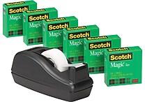 Scotch® Magic™ Tape 810 Value Pack with C40 Dispenser, 3/4' x 1000', 1' Core, 6/Pack