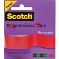 Scotch® Expressions Tape, Salmon, Removable, 3/4in. x 300in.