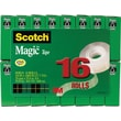 "Scotch® Magic™ Tape 810, 3/4"" x 27 yds,  1"" Core, 16/Pack"