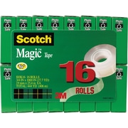 Scotch® Magic™ Tape 810, 3/4 x 27 yds,  1 Core, 16/Pack