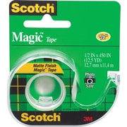 "Scotch® Magic™ Tape, 1/2"" x 12 1/2 yds with Dispenser, 1"" Core"