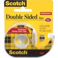 Scotch® Double Sided Permanent Tape with Dispenser, 1/2in. x 450in.,  1in. Core