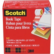 "Scotch® Book Tape 845, 2"" x 15 yds, 3"" Core"