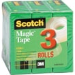 Scotch® Magic™ Tape 810, 3/4in. x 27 yds, 1in. Core, 3/Pack