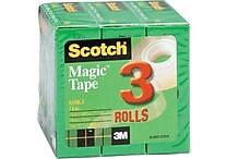 Scotch® Magic™ Tape, 3/4' x 1000', 1' Core, 3/pack (810K3)