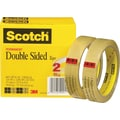 Scotch® Double Sided Tape 665, 3/4in. x 36 yds, 3in. Core, 2/Pack