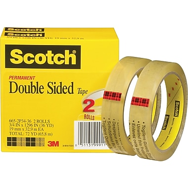 Scotch® Double Sided Tape 665, 3/4
