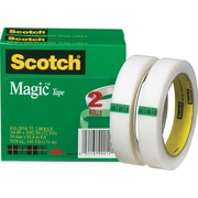 "Scotch® Magic™ Tape 810, 3/4"" x 72 yds, 3"" Core, 2/Pack"