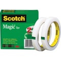 Scotch® Magic™ Tape 810, 1/2in. x 72 yds, 3in. Core, 2/Pack