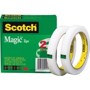 "Scotch® Magic™ Tape 810, 1/2"" x 72 yds, 3"" Core, 2/Pack"