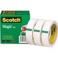 Scotch® Magic™ Tape 810, 1in. x 72 yds, 3in. Core, 3/Pack