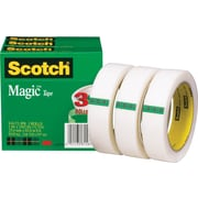 Scotch® Magic™ Tape 810, 1 x 72 yds, 3 Core, 3/Pack