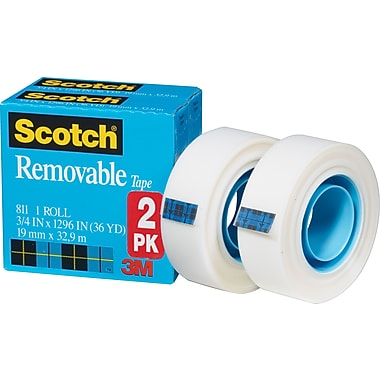 Scotch® Removable Tape 811, 3/4