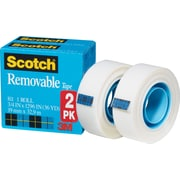 Scotch® Removable Tape 811, 3/4 x 36 yds, 1 Core