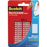 Scotch® Restickable Sheet, 3 x 5, Clear
