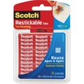 Scotch® Restickable Tabs 1in. x 1 in., 18/Pack