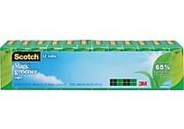 Scotch® Magic™ Greener Tape 812, 3/4' x 25 yds, 1' Core, 12/Pack
