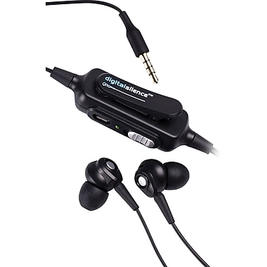Digital Silence DS101A Analog Ambient Noise Cancelling Ear Buds, Black