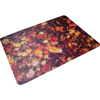 Floortex Autumn Leaves Polycarbonate Chair Mat, Rectangular, 36in.x48in.