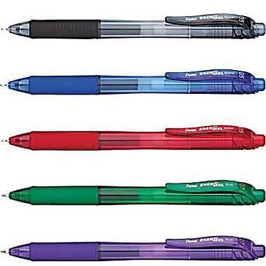Pentel® EnerGel-X Gel Roller Pens, Fine 0.7 mm, 4/Pack