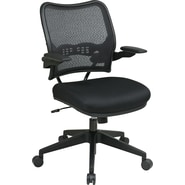 Office Star Space® Deluxe Air Grid® Back Manager Chair with Cantilever Arm, Black