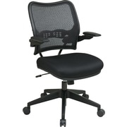Office Star Space Seating Fabric Conference Chair, Adjustable Arms, Black