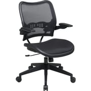 Office Star Space® Mesh Deluxe Office Task Chair with Cantilever Arm, Black